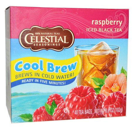 - Celestial Seasonings, Iced Black Tea, Raspberry, 40 Tea Bags, 3.6 oz(pack of 4)