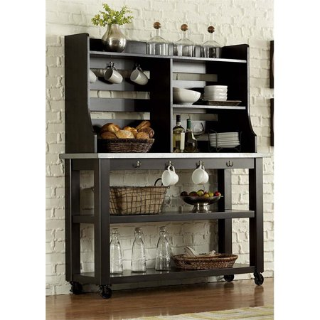 Liberty Furniture Keaton II Server and Hutch in Charcoal