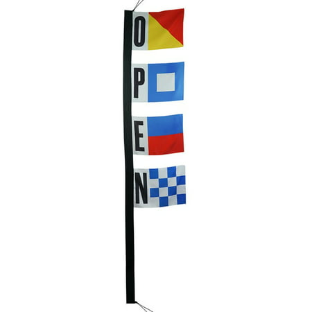 Colorful Flag Banner (In the Breeze Nautical Open Sign 4-Section Banner Flag - Colorful and Eye - Catching Décor for your)