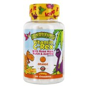 KAL C-Rex Vitamin C 100mg | Supplement for Kids | Tasty Orange Chewables, No Fructose | With Bioflavonoids from Rose Hips, Rutin & Acerola | 100ct