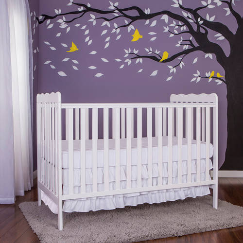 Dream On Me Classic 2-in-1 Convertible Crib, White