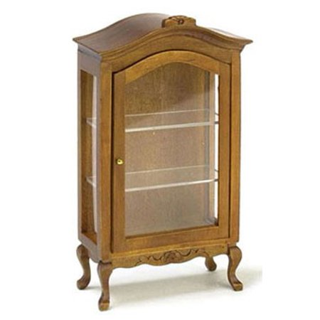 Dollhouse Walnut Curio Cabinet ()