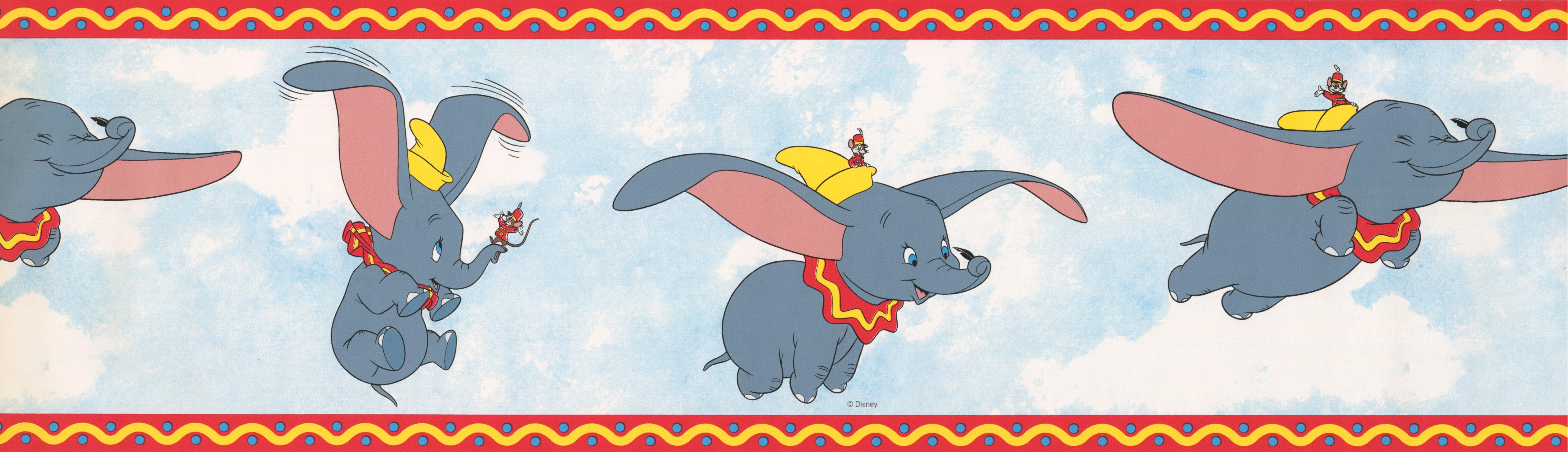 Wallpaper Accessories 7 Disney Dumbo Elephant Peel Stick