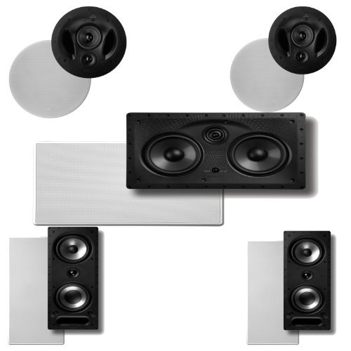 Polk Audio 90-RT In-Ceiling Speakers (Pair) Plus Polk Audio 265RT 3-Way In-Wall Speakers (Pair) & A Polk Audio 255C-LS... by Polk Audio