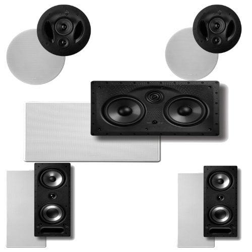 Polk Audio 90-RT In-Ceiling Speakers (Pair) Plus Polk Audio 265RT 3-Way In-Wall Speakers (Pair) & A Polk Audio 255C-LS... by Polk Audio