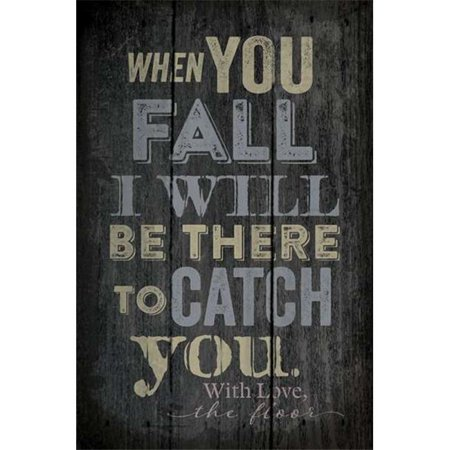 Artistic Reflections PA1035 10.5 x 16 in. When You Fall I Will Be There Wood Pallet Design Wall Art Sign - image 1 de 1