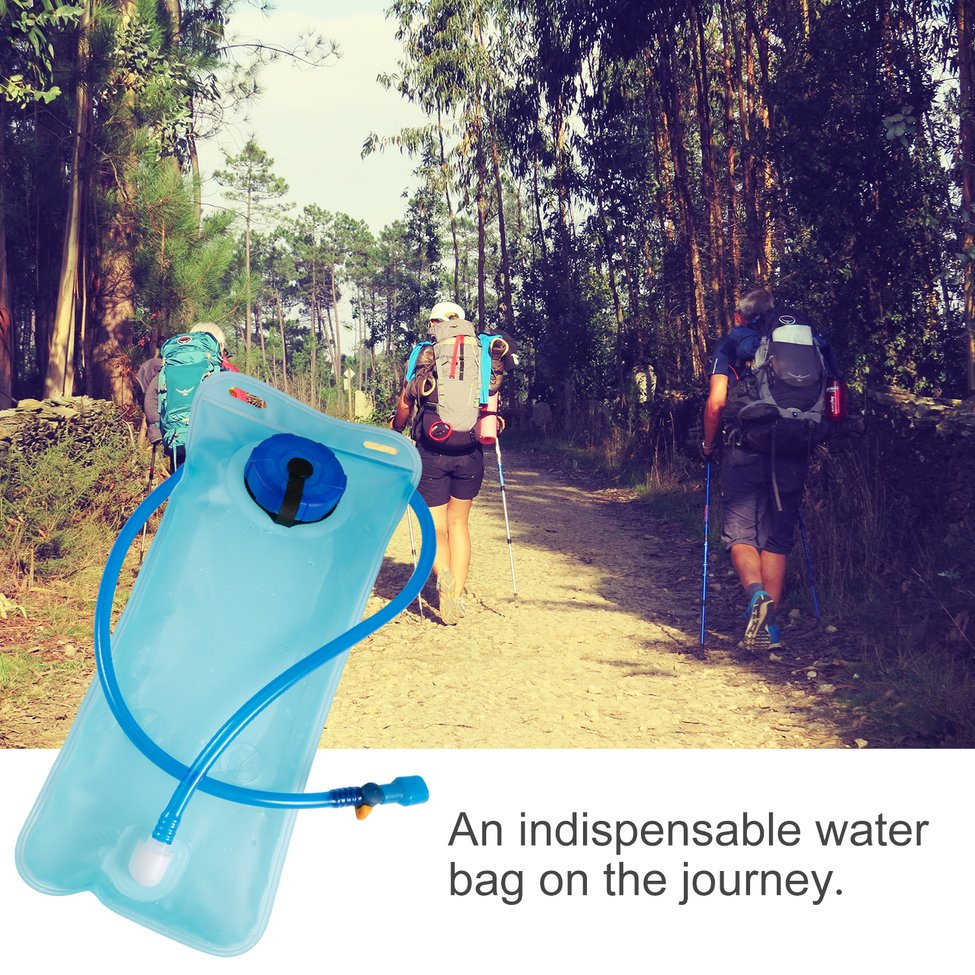 2L Portable Size Bicycle Bike Cycling Mouth Water Bladder Bag Hydration Outdoor Camping Sports Hiking Water Bag Blue