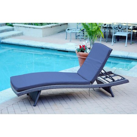 Cc Outdoor Living Wicker Patio Chaise Lounge Chairs Blue Cushions