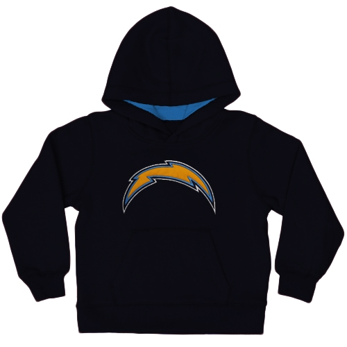 Los Angeles Chargers Toddler Fan Gear Primary Logo Pullover Hoodie - Navy Blue