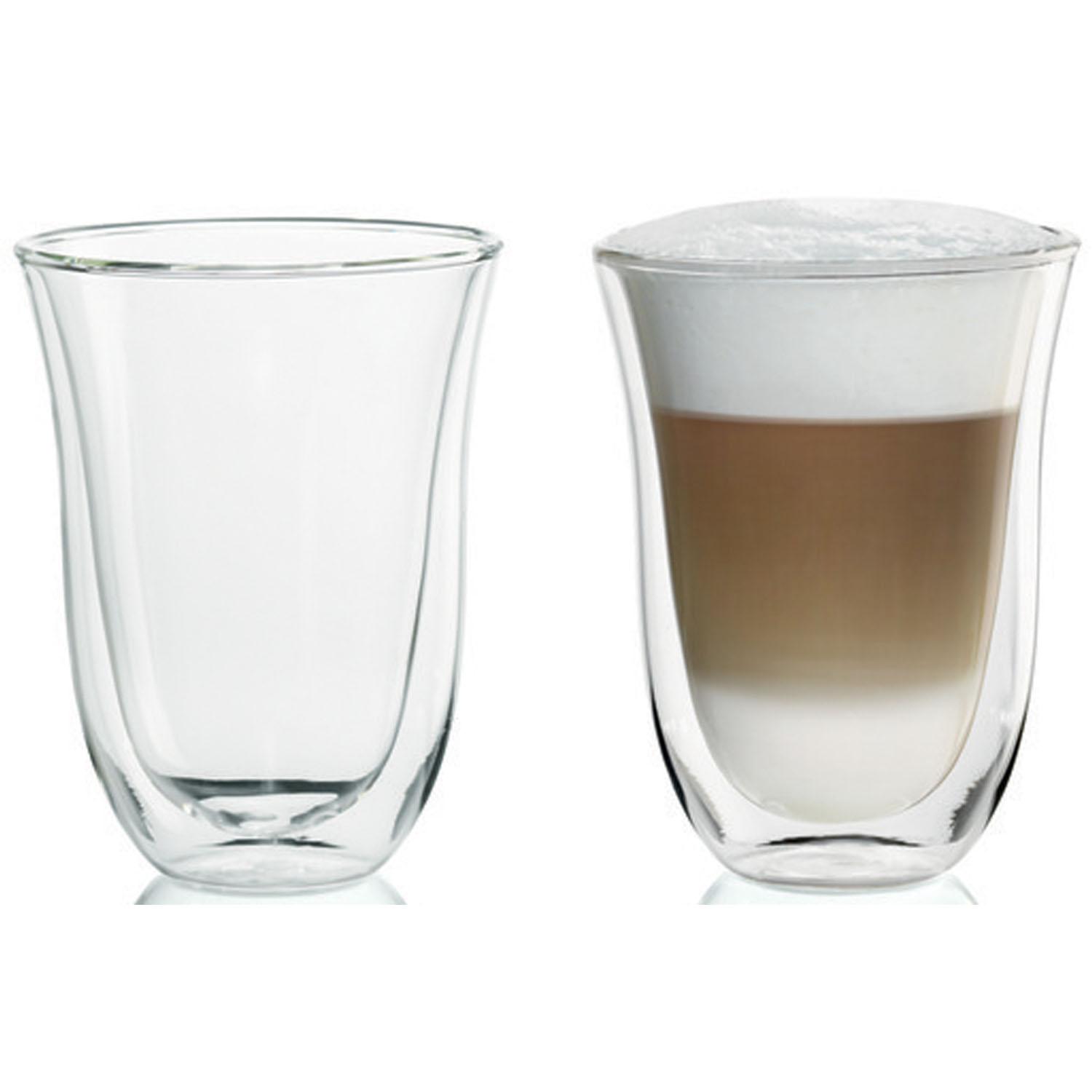 DeLonghi 2 Latte Double Wall Thermal Glasses