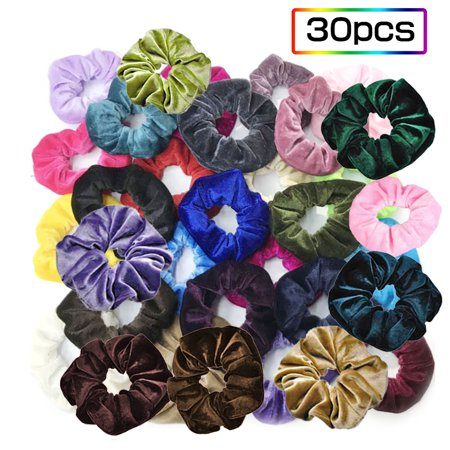 20pcs Flannelette Elastic Hair Band For Women Headband Soft Scrunchies Elastic Hairbands Stretchy Multicolor Rubber Bands Hair Accessories - image 7 de 7