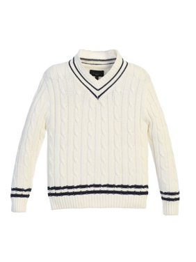 Gioberti Boy's 100% Cotton V-Neck Cable Knit Sweater