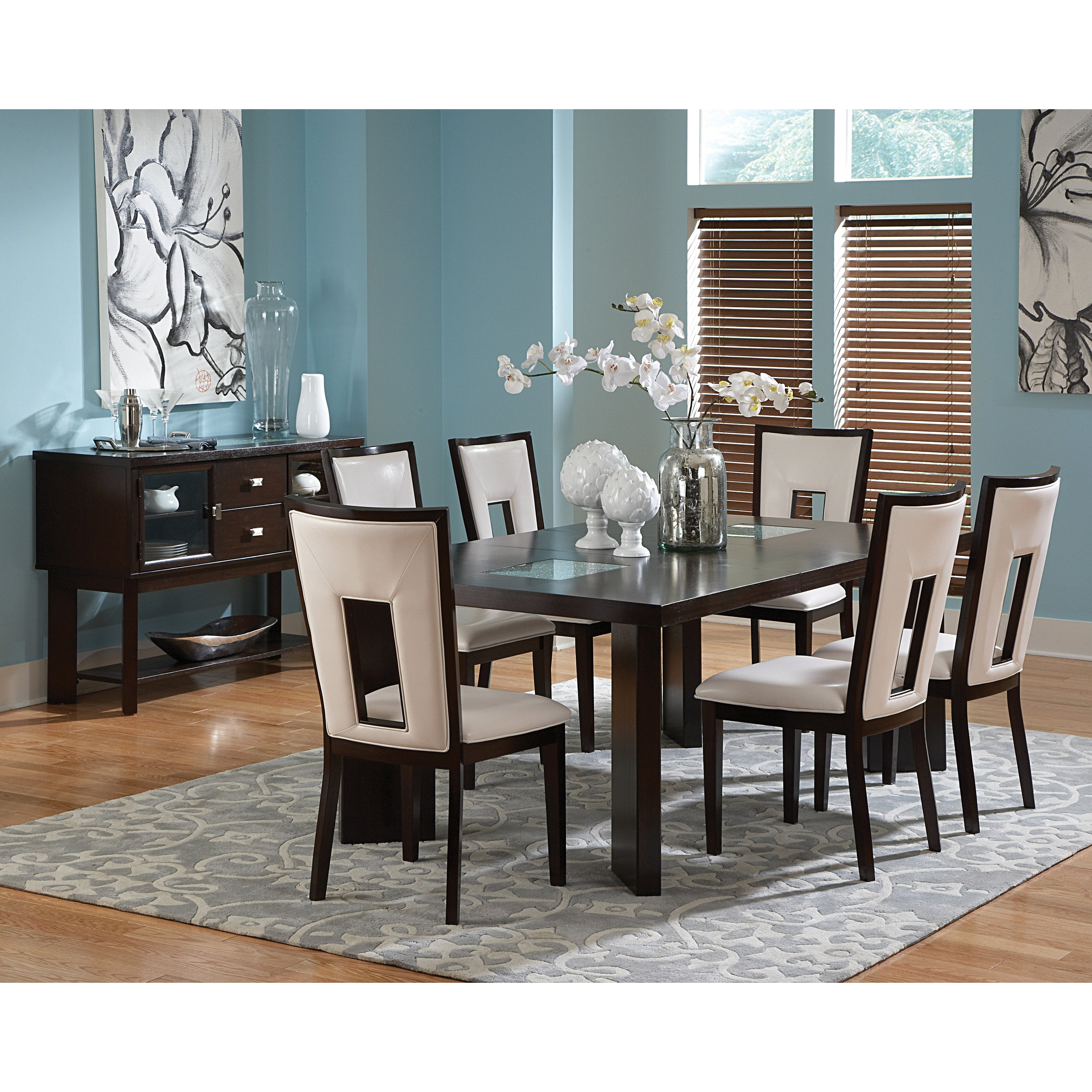 Steve Silver Delano Side Dining Chairs   Espresso   Set Of 2