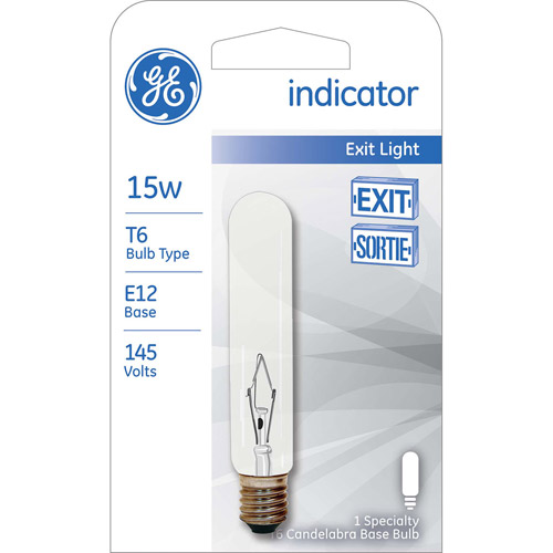 GE 15-Watt T6 Appliance Light, 1-Pack