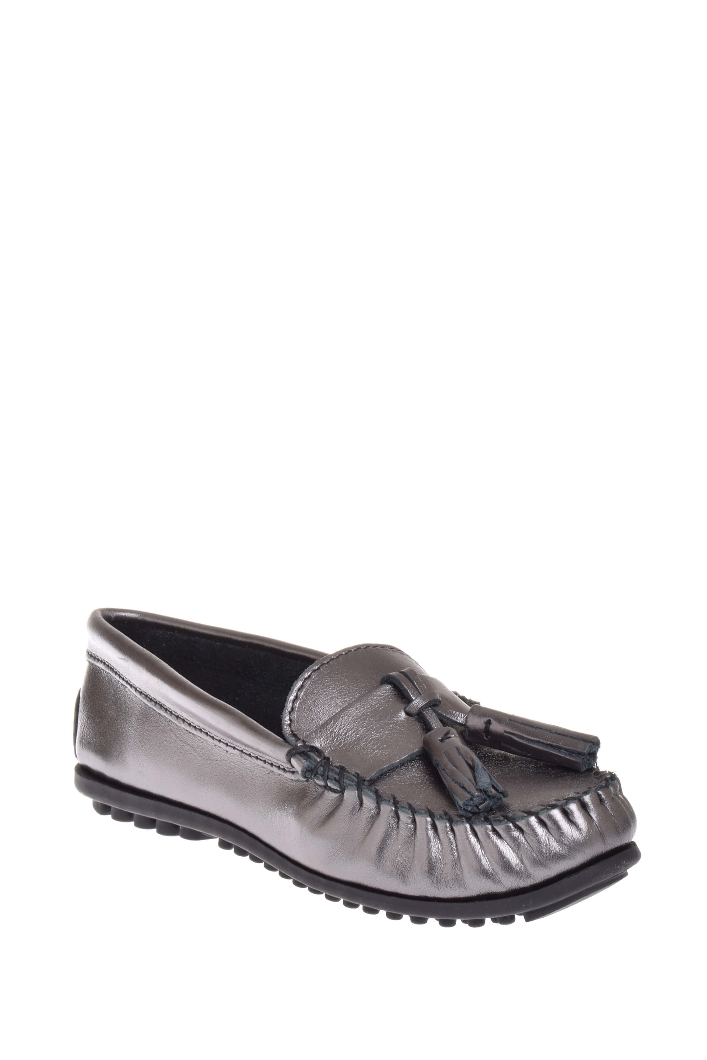Minnetonka 419T Grace Moc Loafer Gunmetal by