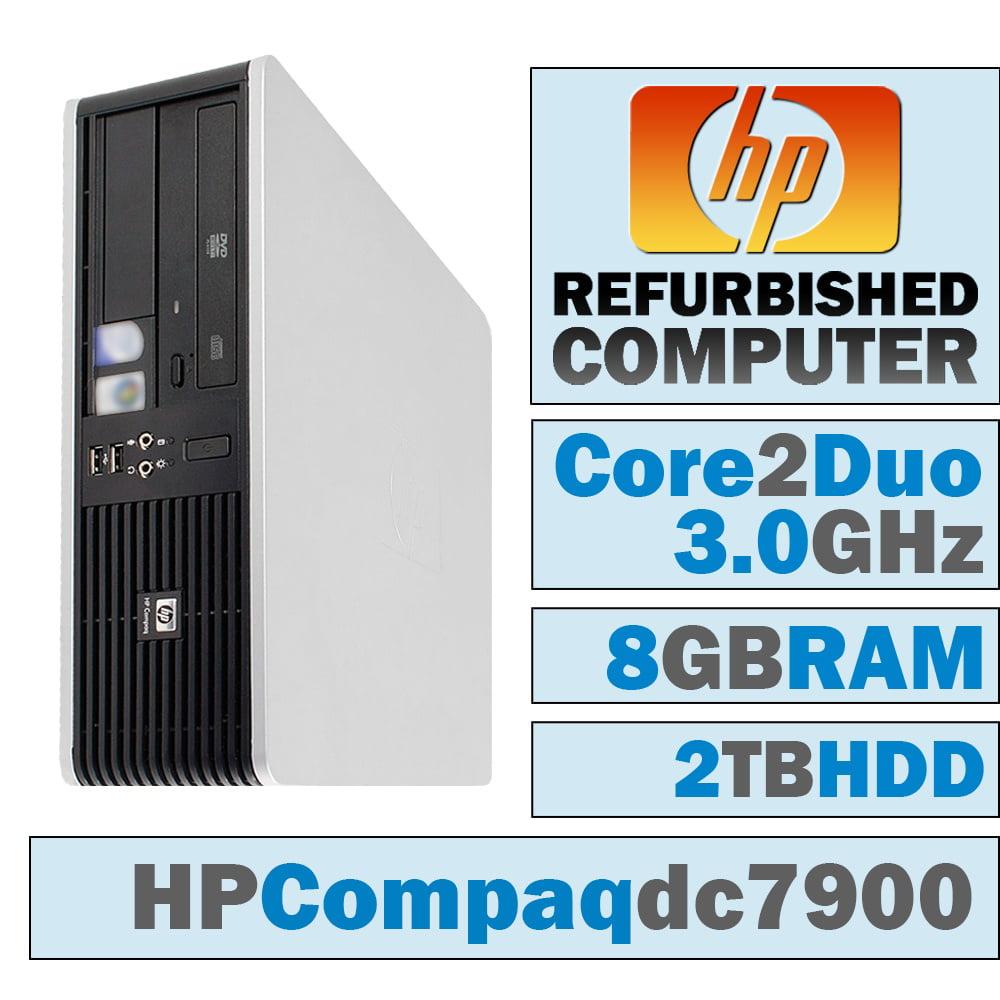 REFURBISHED HP Compaq dc7900 SFF/Core 2 Duo E8500 @ 3.17 GHz/8GB DDR2/2TB HDD/DVD-RW/WINDOWS 10 HOME 64 BIT
