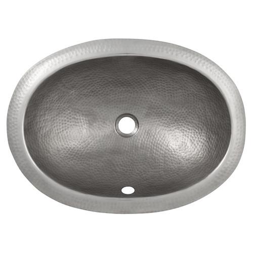 The Copper Factory Oval Self-Rimming Bathroom Sink