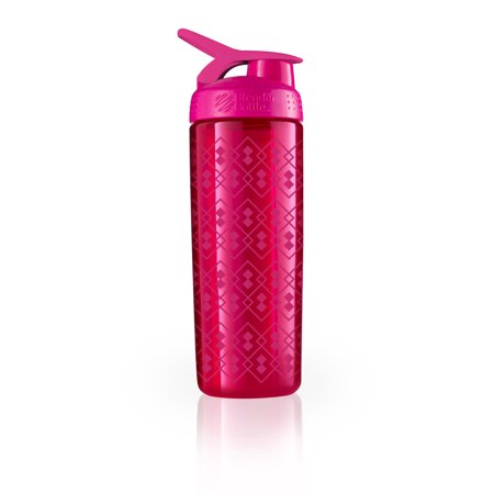 BlenderBottle 28oz SportMixer Sleek Water Bottle Shaker Bottle with Wire Whisk BlenderBall and Carrying Loop the Water Bottle that Shakes Geo Lace