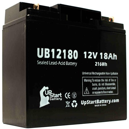2-Pack UB12180 Universal Sealed Lead Acid Battery (12V, 18Ah, T4 Terminal, AGM, SLA) Replacement - Compatible With APC SMART UPS 1500, SMART-UPS 3000, RBC7, SMART-UPS 1400, SUA1500, RBC43, 1000XL - image 3 of 4