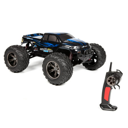 FMT 1/12 IPX4 Scale Electric RC Car Offroad 2.4Ghz 2WD High Speed 33+MPH Remote Controlled Car Truck (Color: Blue)