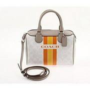 coach signature varsity stripe mini bennett satchel bag by