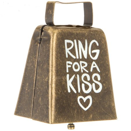 Ring For A Kiss Metal Cowbell Wedding Reception Gift Keepsake - Cowbell Decorations