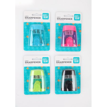 Pen + Gear 2-in-1 Plastic Sharpener, Assorted Colors