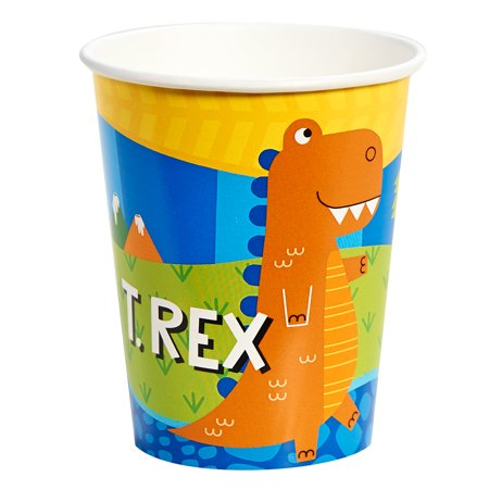 T-Rex Dinosaur Party Supplies 48 Pack Paper Cups (Dinosaur Birthday Party Supplies)