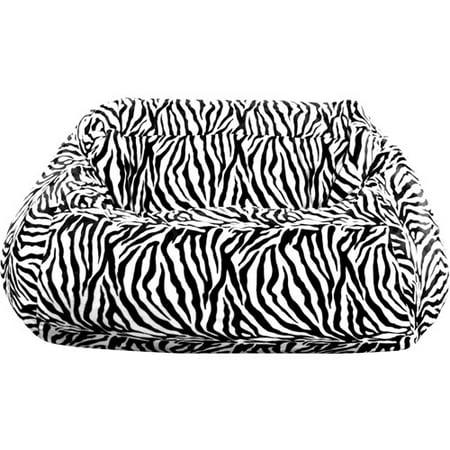 Plush Beanbag Loveseat Zebra