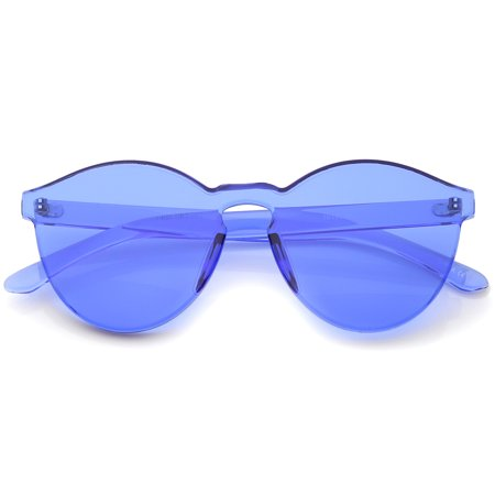 01f06c77bc sunglass.la - sunglassLA - One Piece PC Lens Rimless Ultra-Bold Colorful  Mono Block Sunglasses - 60mm - Walmart.com