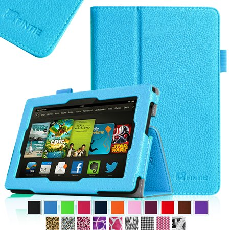Fintie Kindle Fire Hd 7  Tablet  2013 Old Model  Slim Fit Folio Case With Auto Sleep   Wake Feature  Blue
