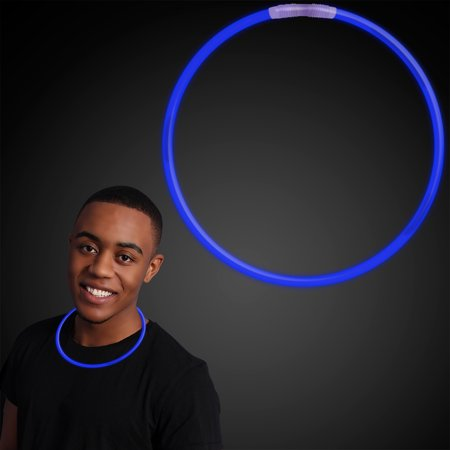 Buy Glow Necklaces (22 inch BLUE Glow Stick Necklaces (Set of)
