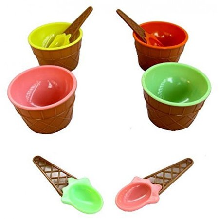 Dazzling Toys Perfect Party Plastic Ice Cream Dishes 12 Pack.