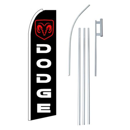 - NeoPlex Dodge Ram Polyester 15' x 2'6 Flag set