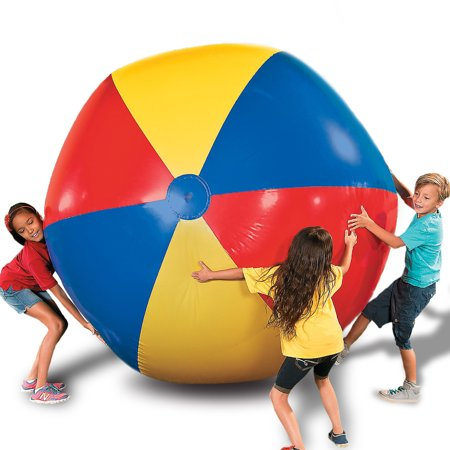 Giant Beach Ball (Novelty Place Giant Inflatable Beach Ball, Pool Toy for Kids & Adults - Jumbo Size 5 Feet (60)
