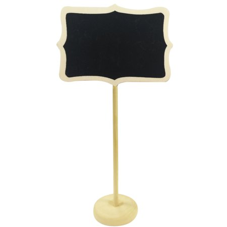 Wrapables® Mini Chalkboard Tag with Stand for Wedding and Party Table Markers, Plant Markers, Party Favors (set of 6) – Rectangle - Wedding Table Favors