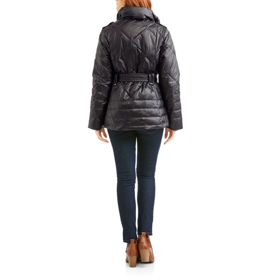528c063b5e8 Big Chill - Women s Belted Puffer Jacket Coat - Walmart.com