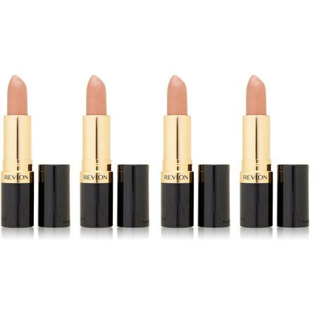 Revlon Super Lustrous Lipstick, Champagne on Ice 205 0.15 oz (Pack of 4) + Cat Line Makeup Tutorial