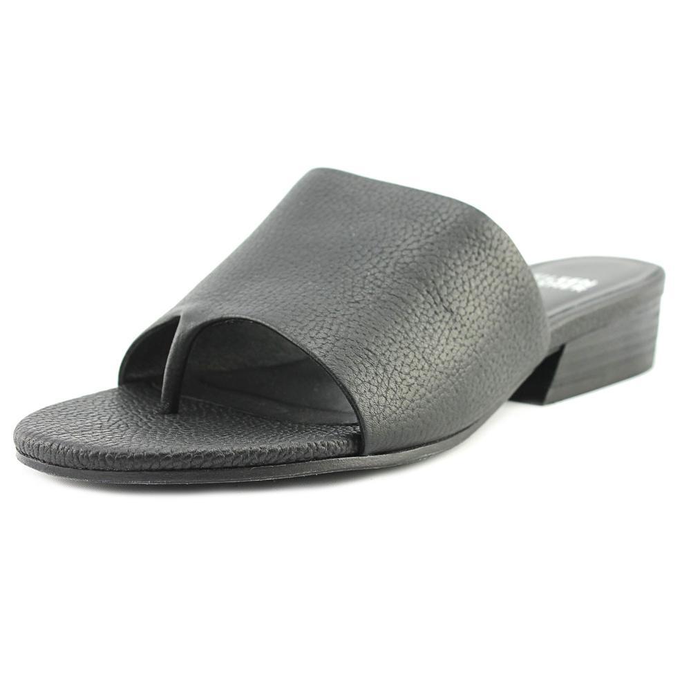 Eileen Fisher Beal-LT Open Toe Leather Slides Sandal