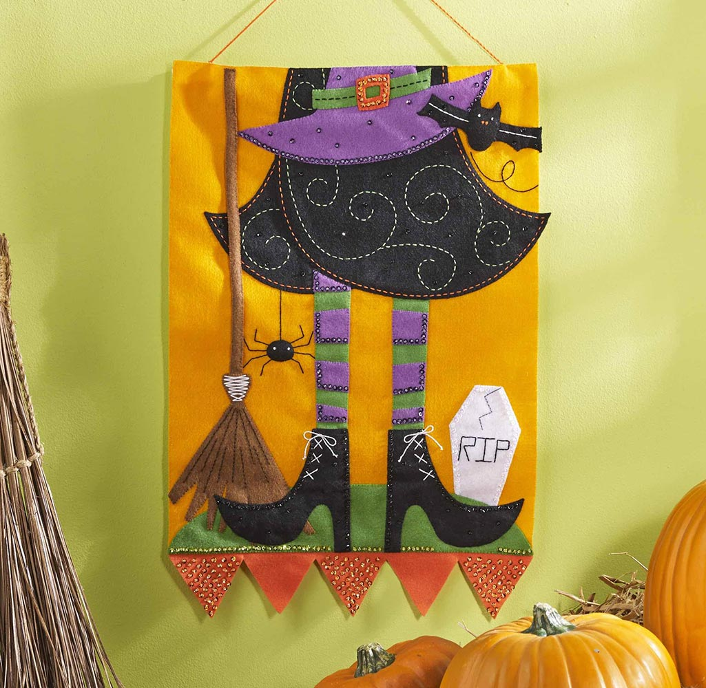 Bucilla Witch Wall Hanging Felt Kit