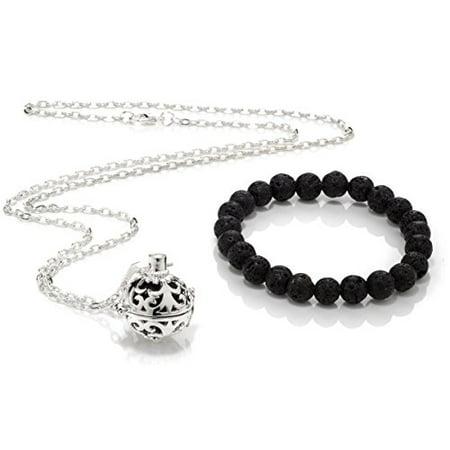 49c2a67dd76df Lava Stone Bracelet   Lava Stone Necklace Combo
