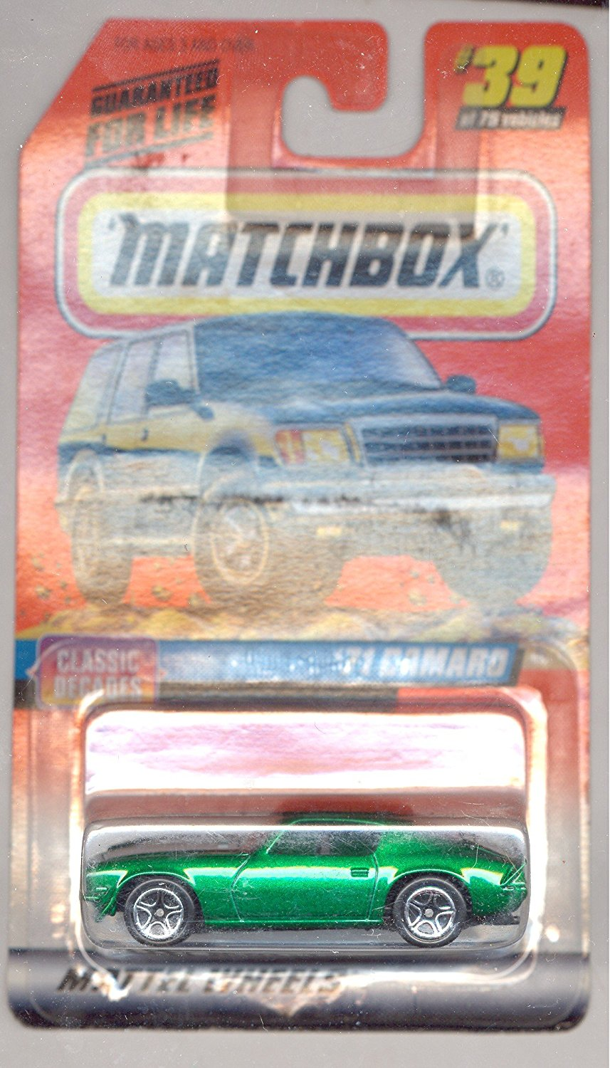 1998-39 75 Series 5 Classic Decades GREEN '71 Camaro 1:64 Scale, 1:64 Scale By Matchbox by