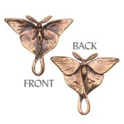 Green Girl Studios Pendant, 43mm Luna Moth Fairy, 1 Piece, Bronze
