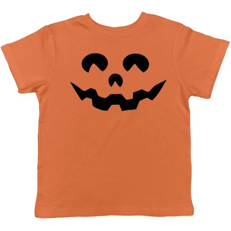 Toddler Cartoon Eyes Pumpkin Face Funny Fall Halloween Spooky T shirt