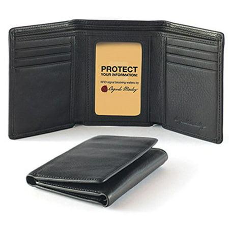 Osgoode Marley Cashmere Snap (Osgoode Marley Cashmere RFID Blocking Mens Tri-Fold Leather Wallet (One Size,)