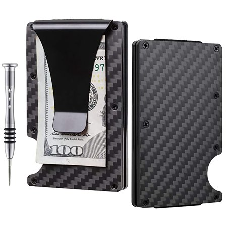 6d82205c989 KOAVOTY -  Gifts for Him Carbon Fiber Wallet - Wallet and Money Clip