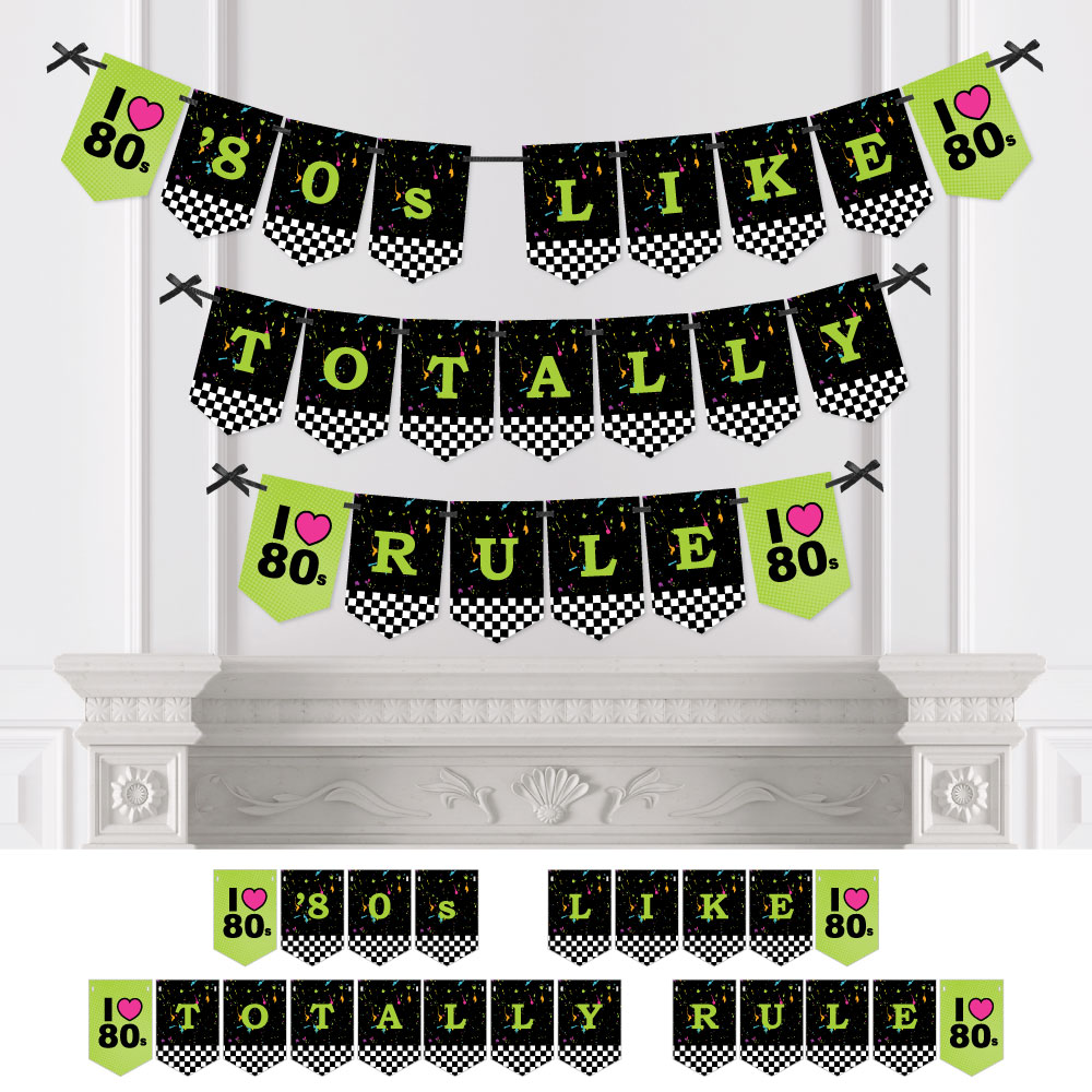 80's Retro - Totally 1980s Party Bunting Banner - Party Decorations - '80s Like Totally Rule