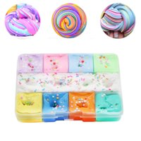 200ml 9 Color Mixing Cloud Cotton Candy Slime Kids Clay Toy