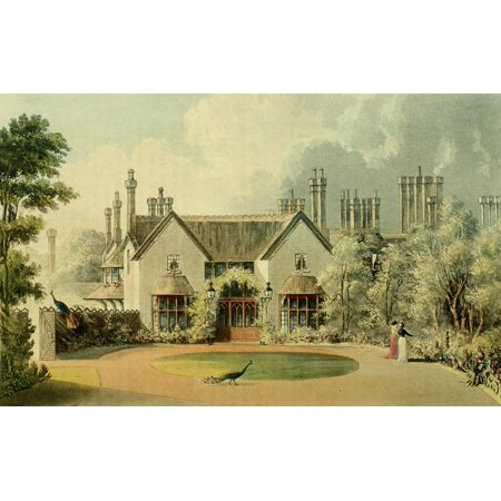 Park Cottages - Repository of Arts 1817 His Majestys cottage Windsor Great Park Stretched Canvas - Unknown (24 x 36)