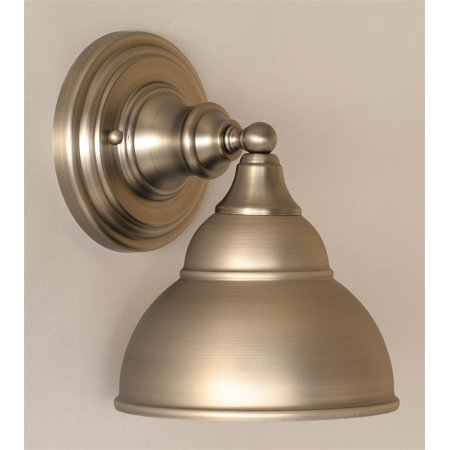 Wall Sconce Metal Shade : Wall Sconce w Double Bubble Metal Shade - Walmart.com